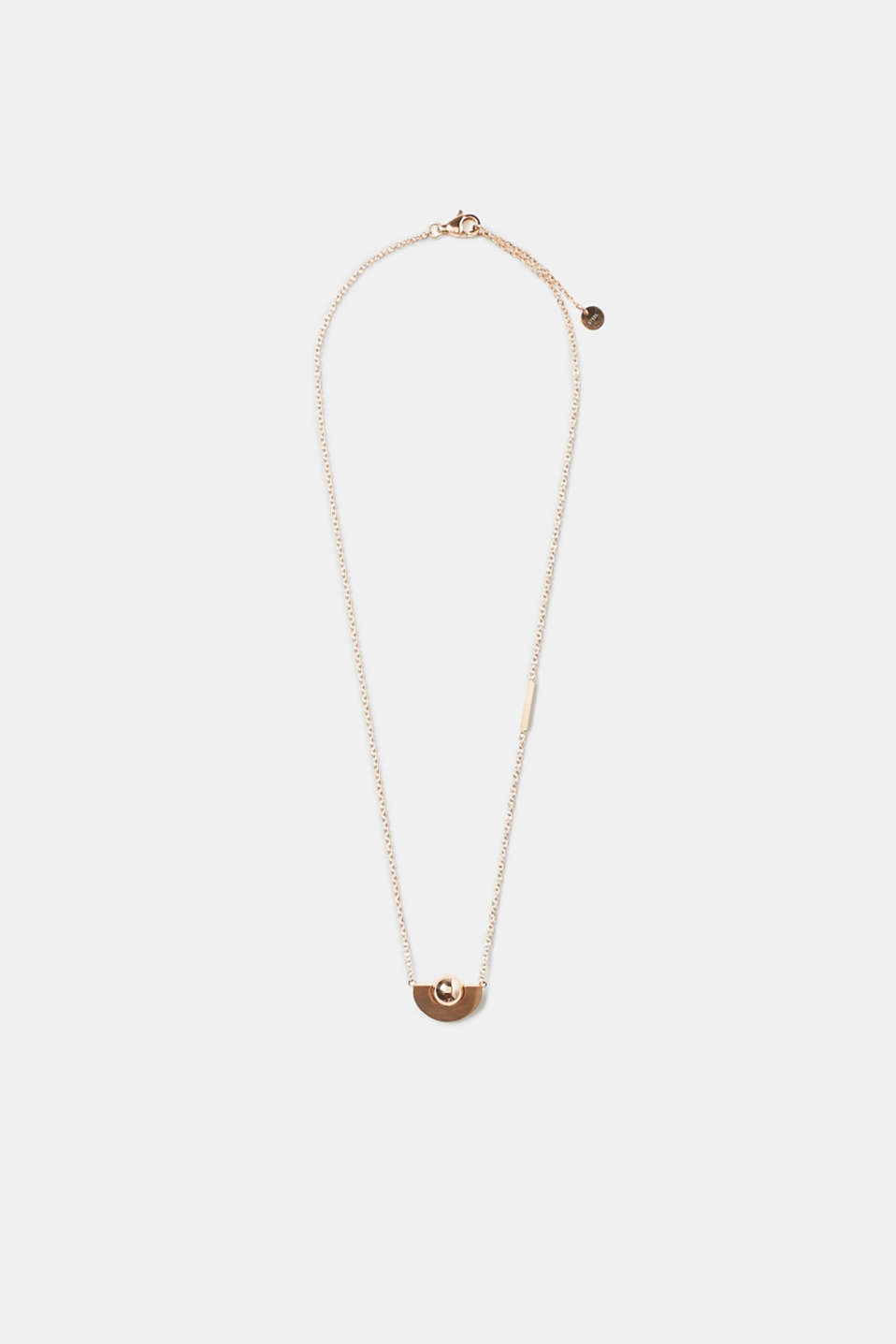 Esprit - Fine necklace with rose gold pendant