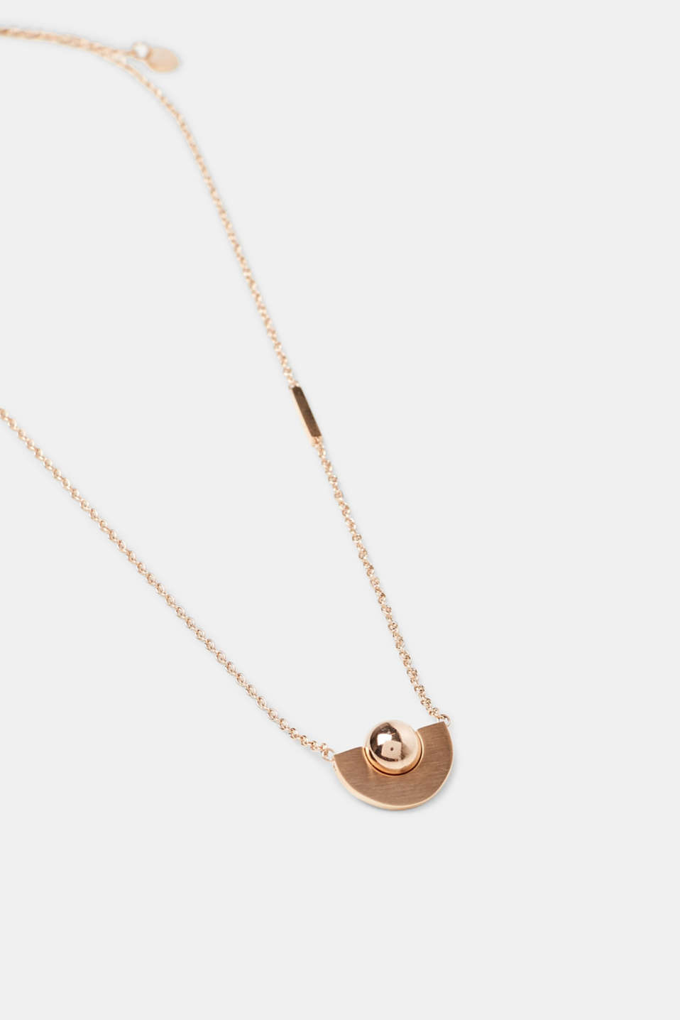 Fine necklace with rose gold pendant