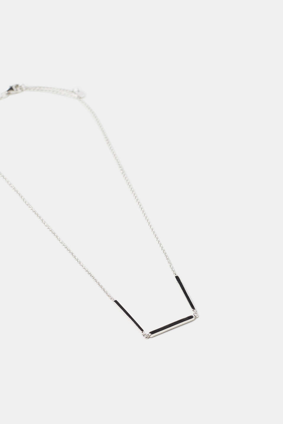 Esprit - Fine sterling silver necklace with zirconia