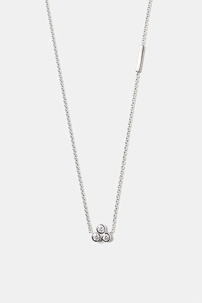 Fine silver necklace with zirconia
