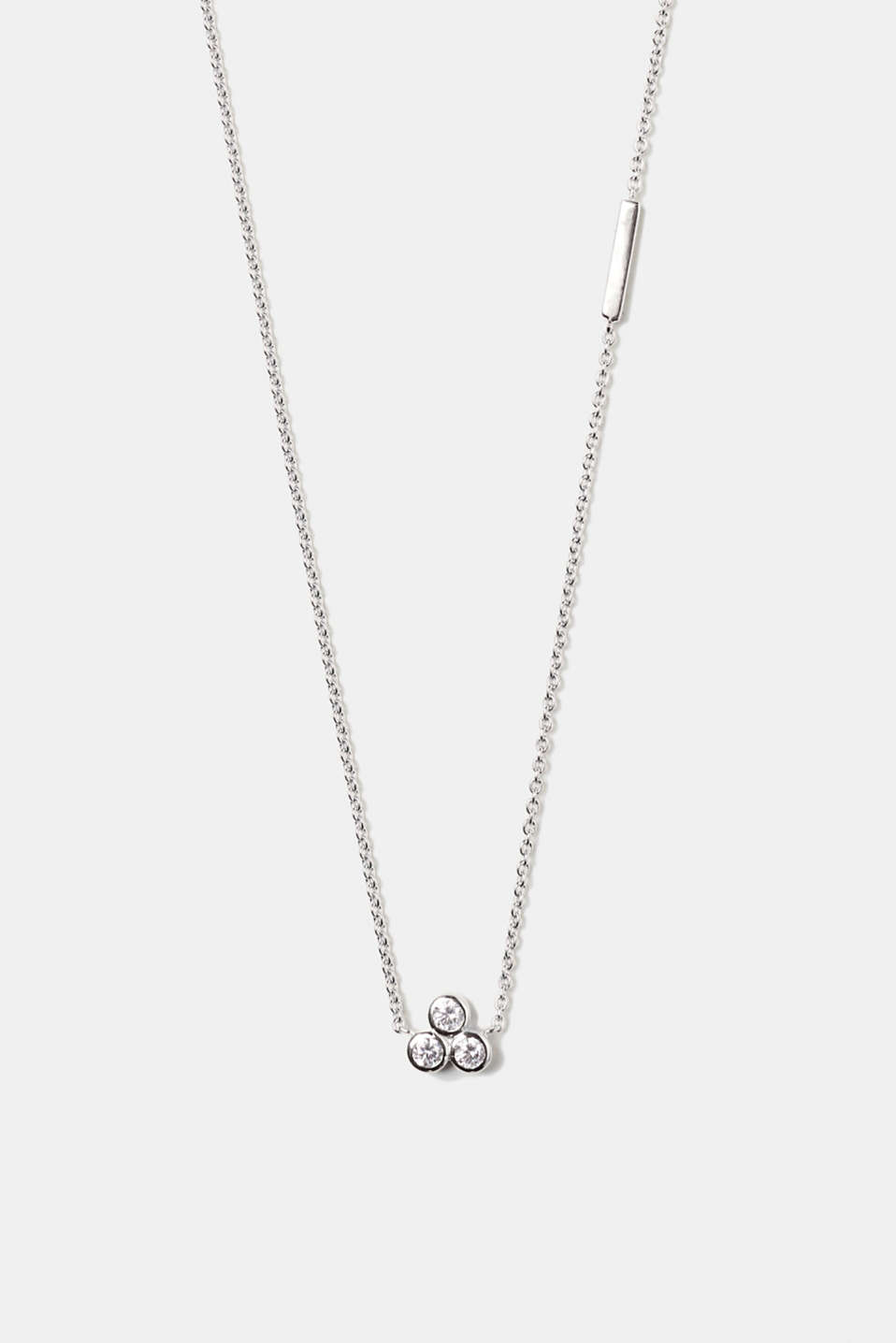 Esprit - Fine silver necklace with zirconia