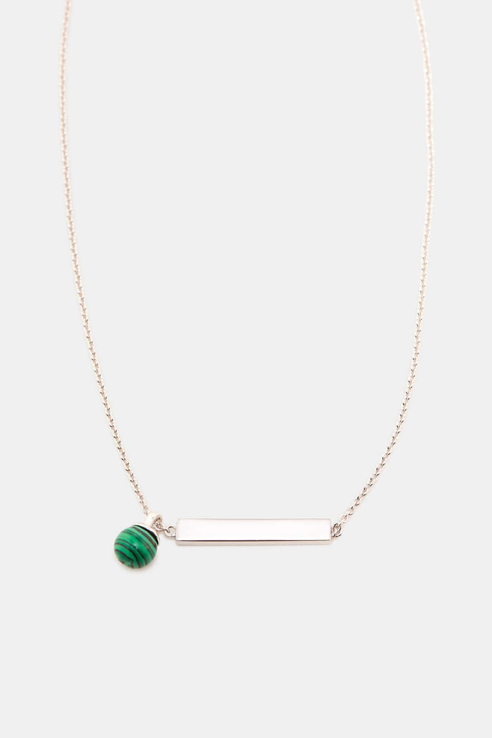 Esprit - Sterling silver necklace with a green bead