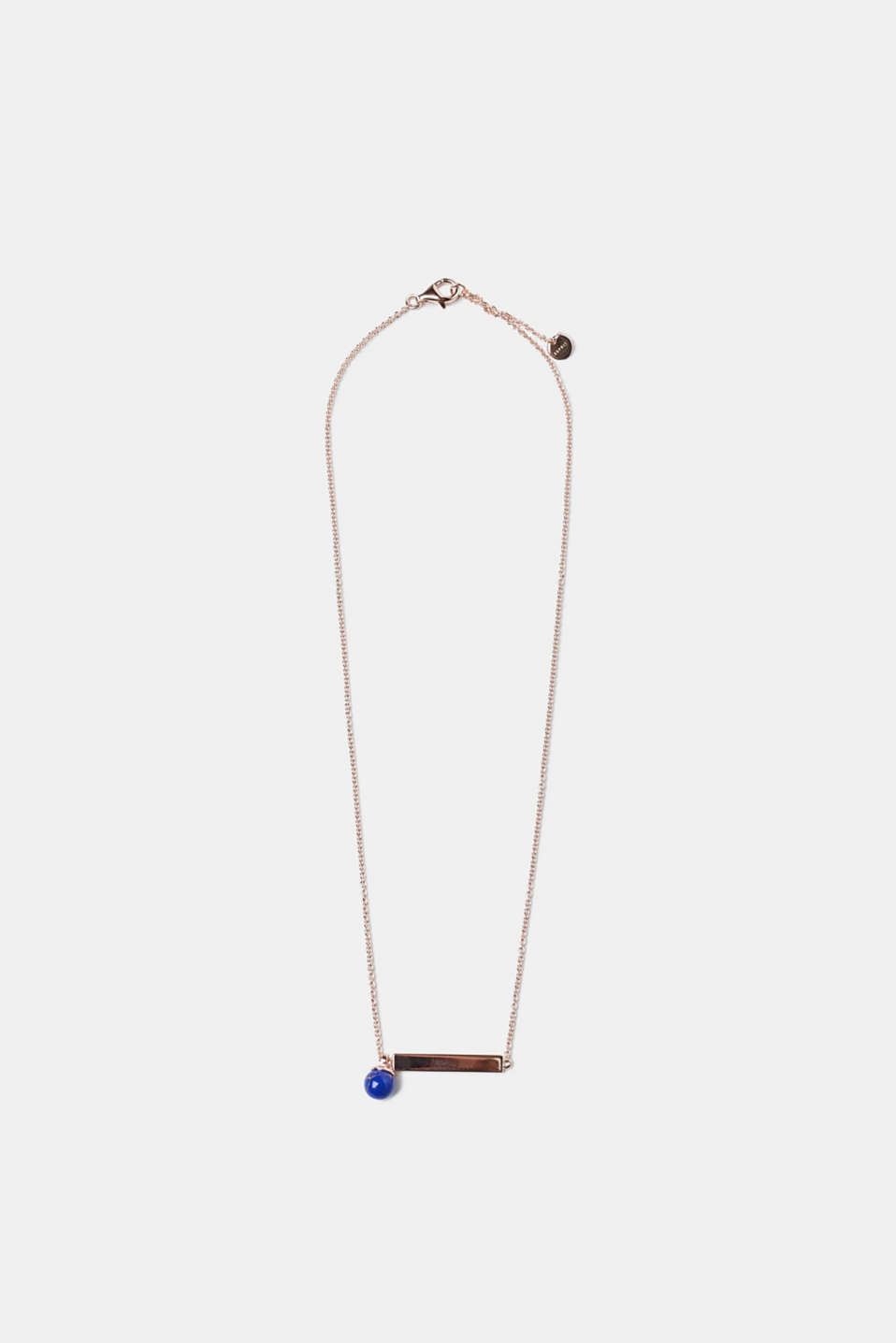 Esprit - Sterling silver necklace with a blue bead