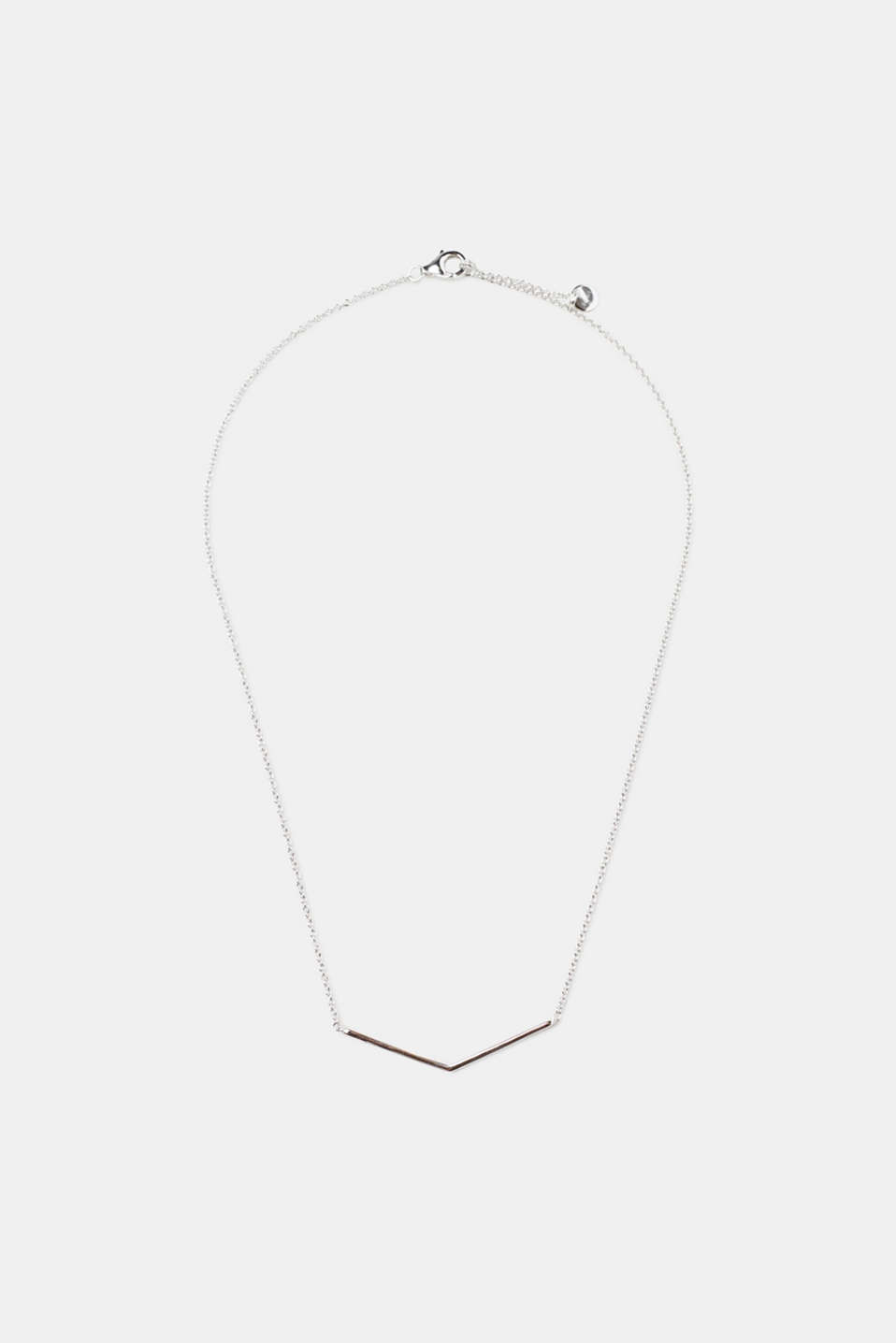Sterling silver necklace with a pendant, one colour, detail image number 0