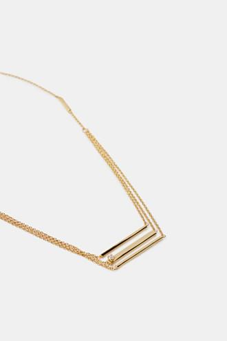 Multi-strand sterling silver necklace
