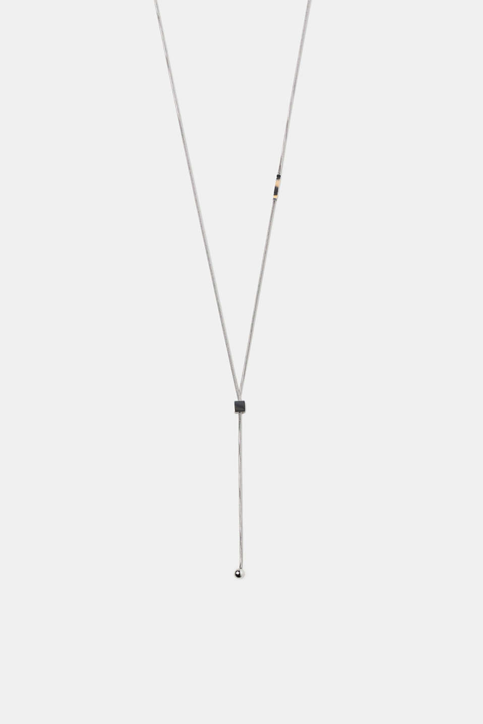 Esprit - Length-adjustable necklace in stainless steel