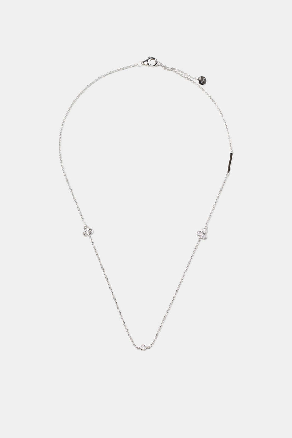 Esprit - Necklace with set zirconia stones, sterling silver