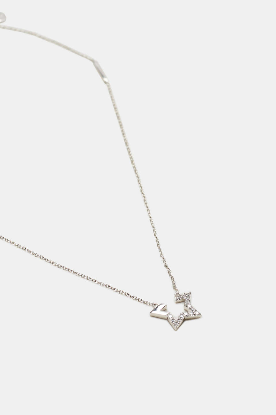 Star pendant necklace, sterling silver, one colour, detail image number 0