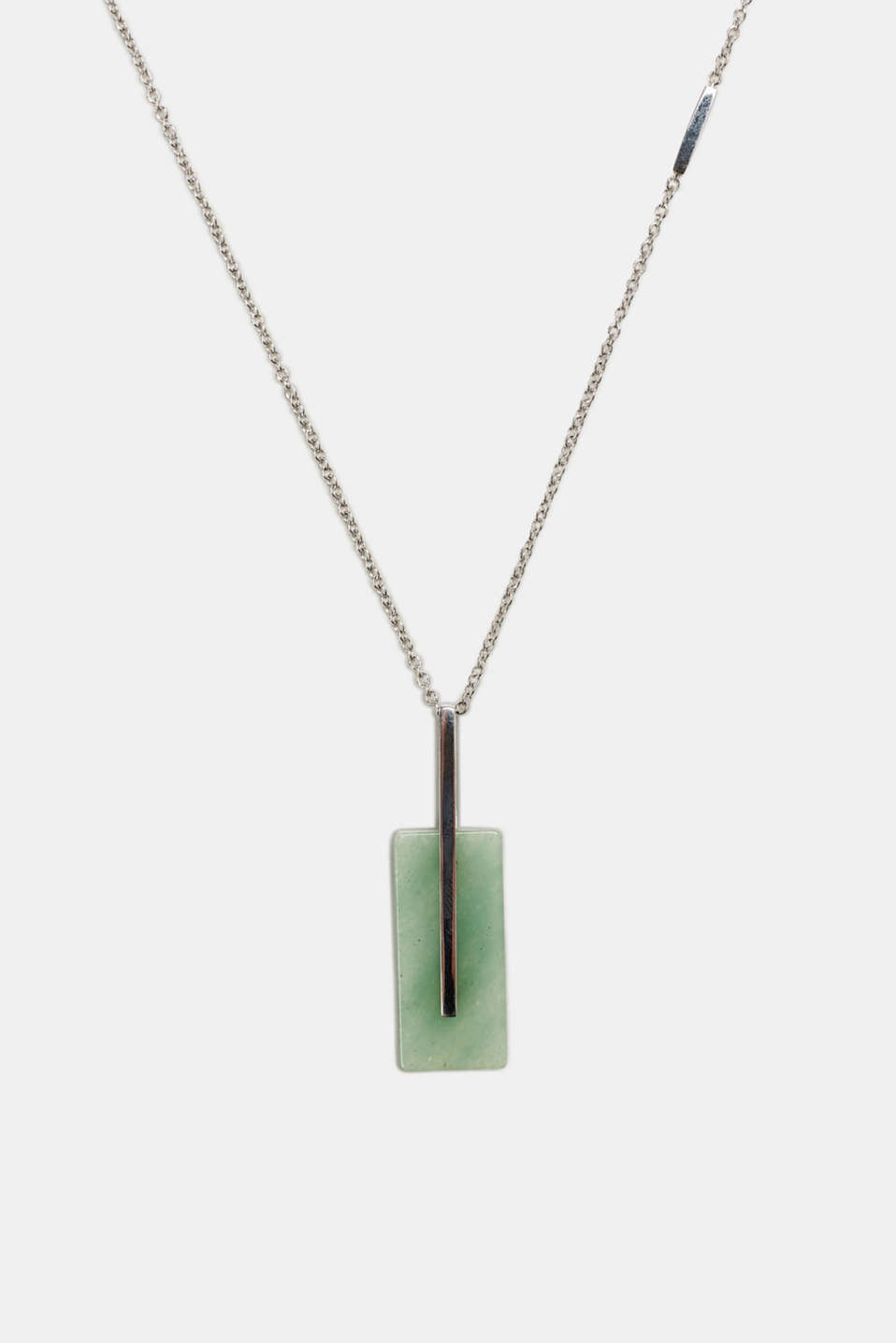 Esprit - Stainless steel necklace with artificial jade gemstone
