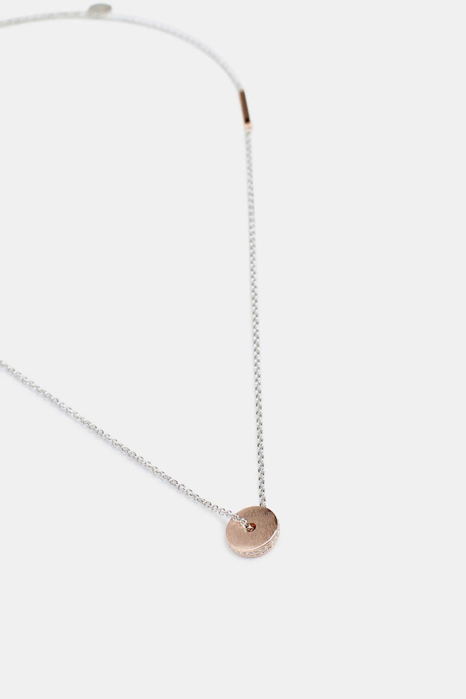 Necklaces silver, ROSEGOLD, detail image number 1