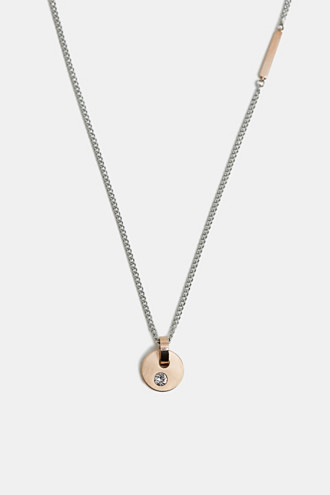 Necklace with a rose gold pendant