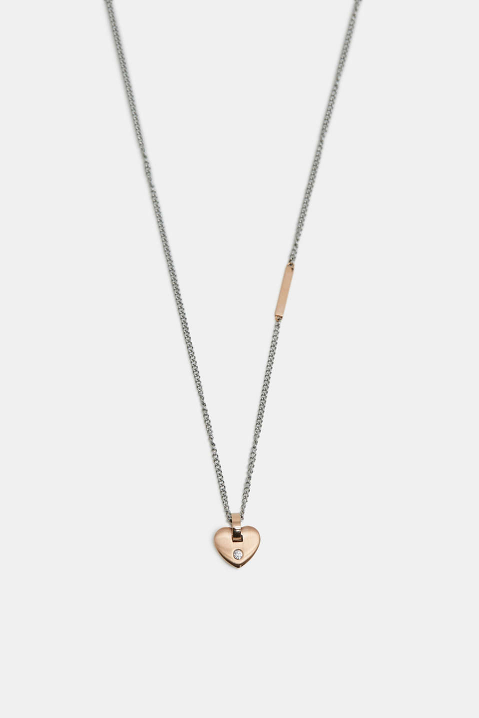 Esprit - Necklace with heart pendant, stainless steel
