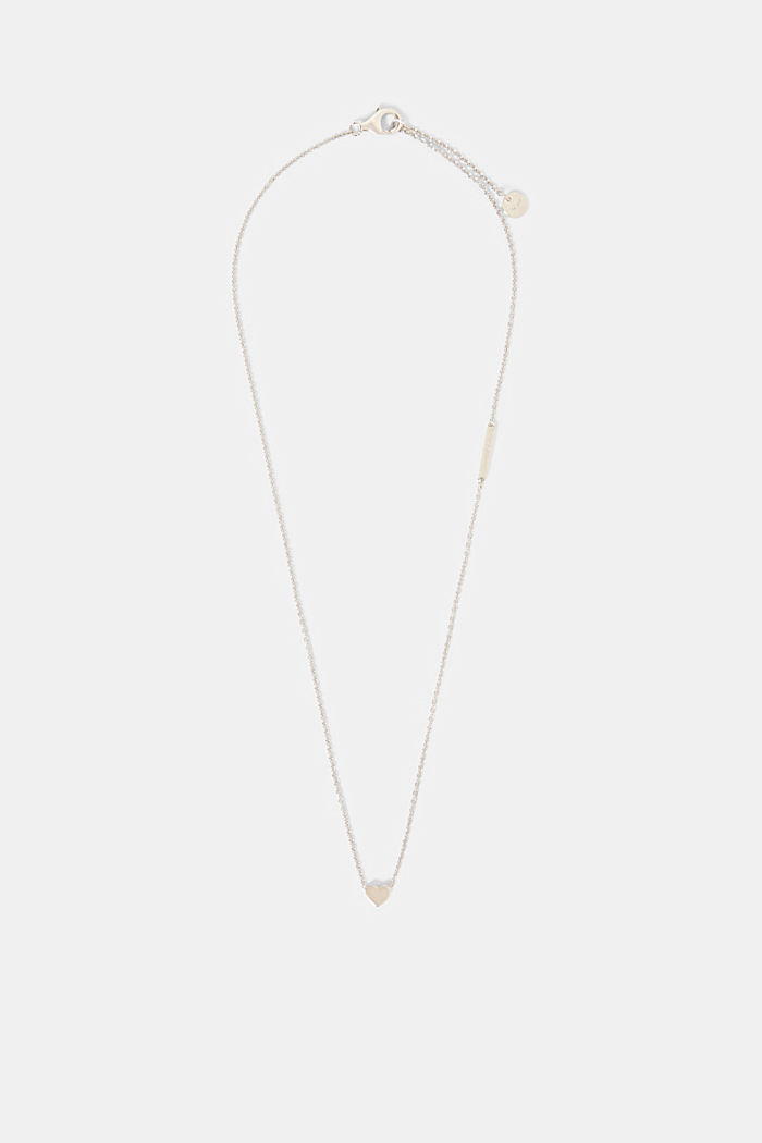 Necklace with pendant, sterling silver, SILVER, detail image number 0