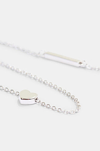 Necklace with pendant, sterling silver
