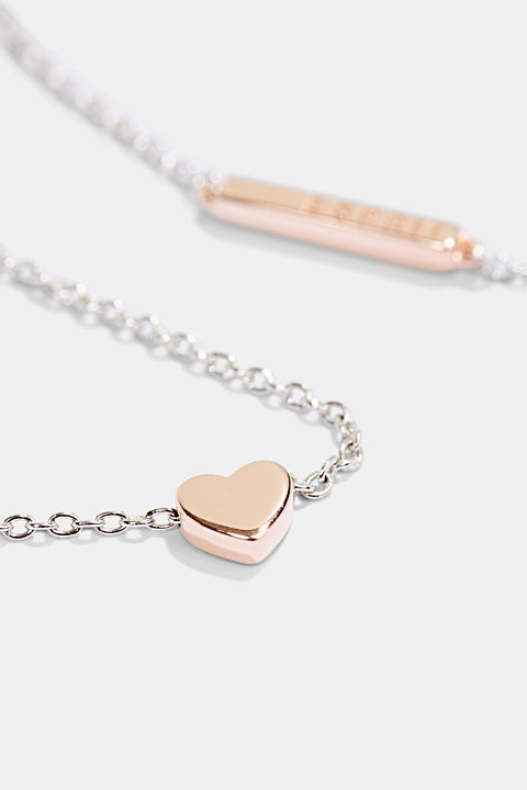 Sterling silver necklace with a heart pendant