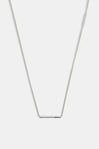 Necklace with a zirconia pendant