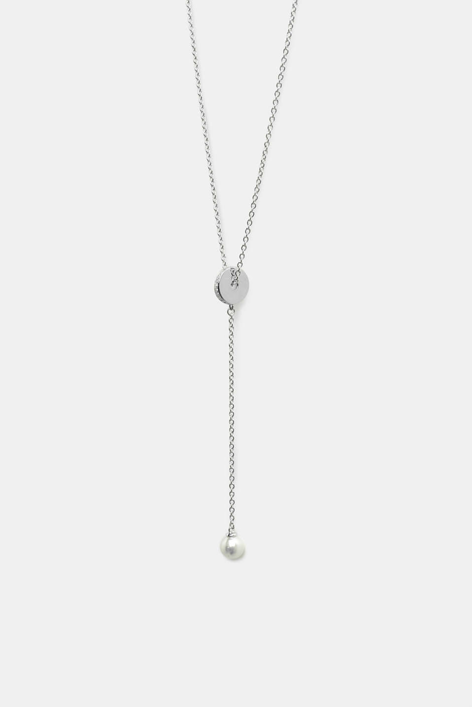 Esprit - Pendant necklace with zirconia, sterling silver
