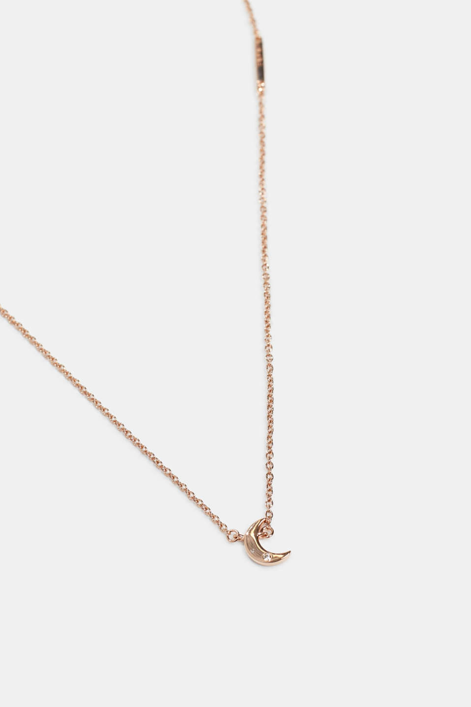 Necklace with pendant, sterling silver, ROSEGOLD, detail image number 0