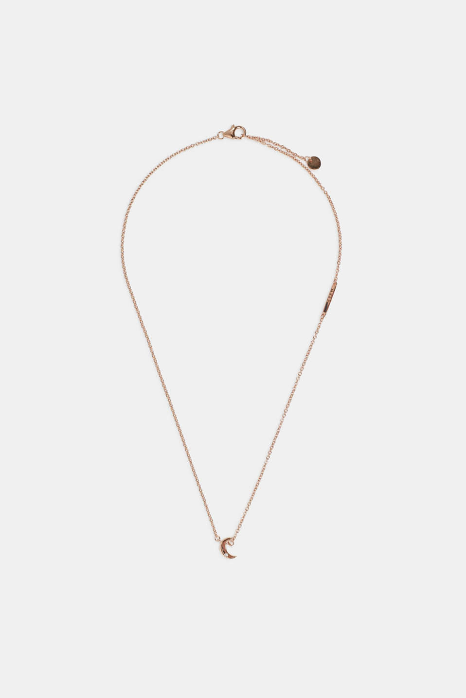 Necklace with pendant, sterling silver, ROSEGOLD, detail image number 1