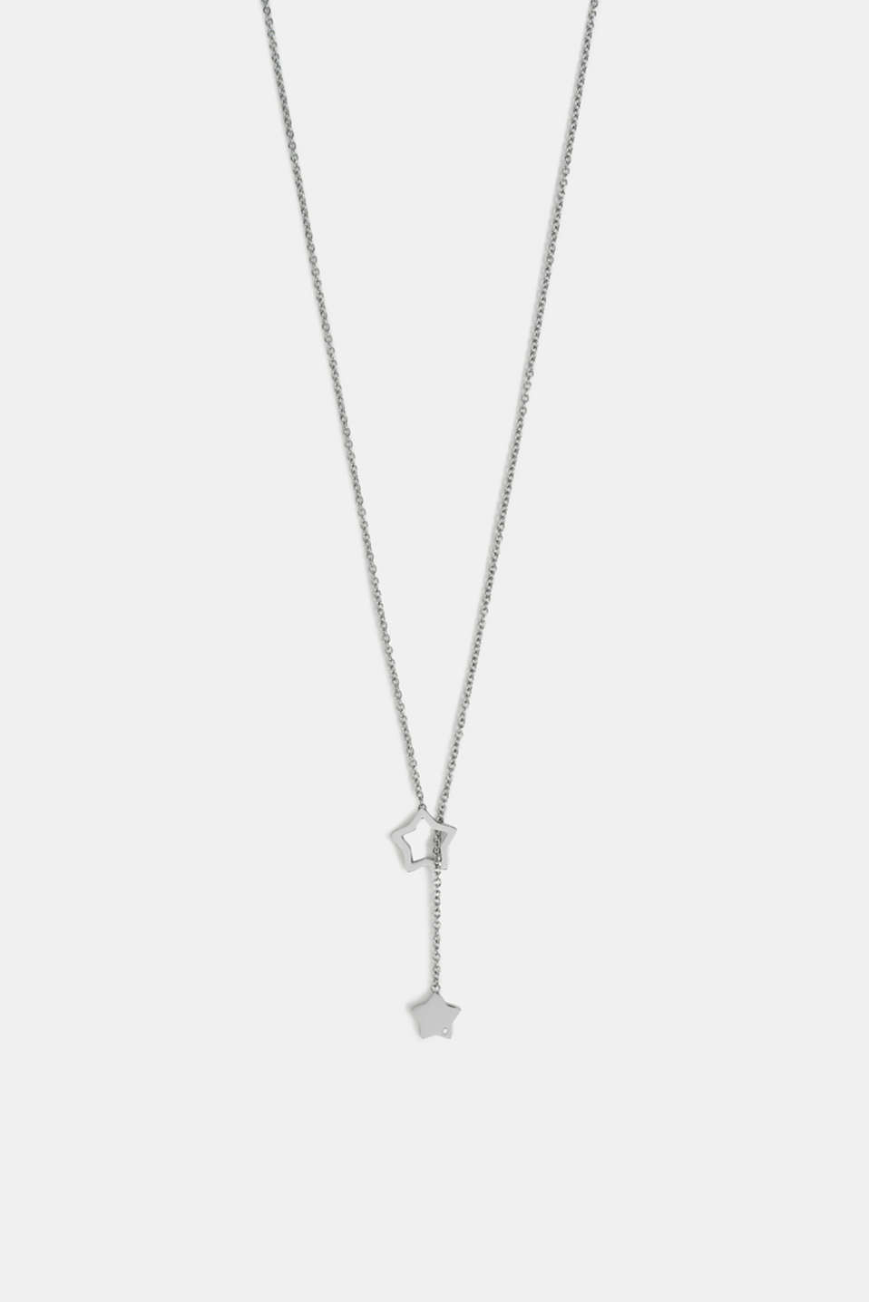 Esprit - Pendant necklace with star charms, stainless steel