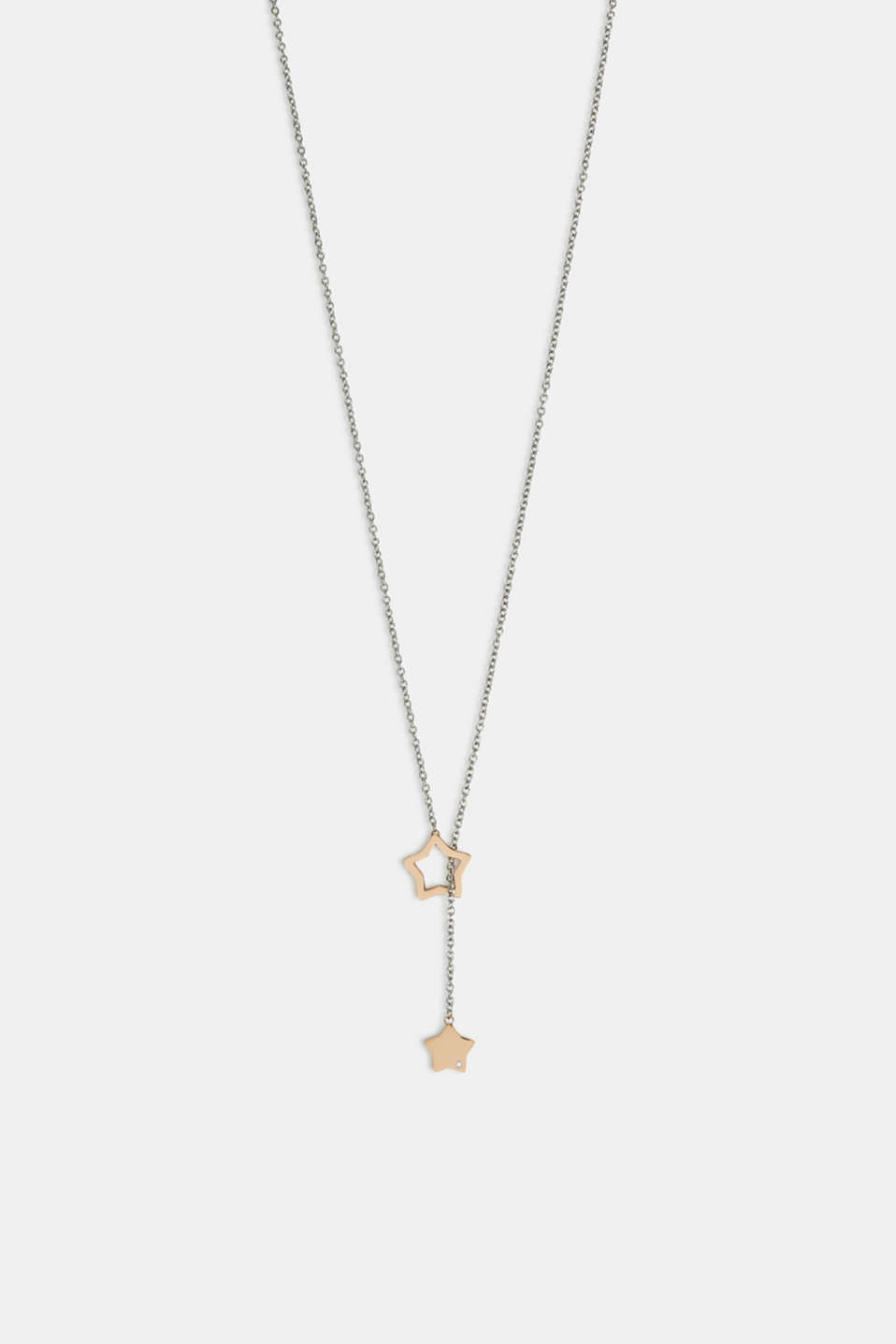 Necklace with star pendants, stainless steel, ROSEGOLD, detail image number 0