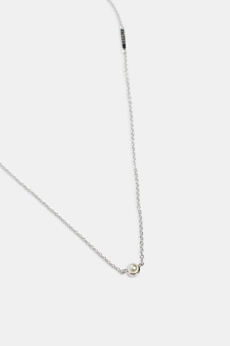 Necklace with a bead pendant, sterling silver