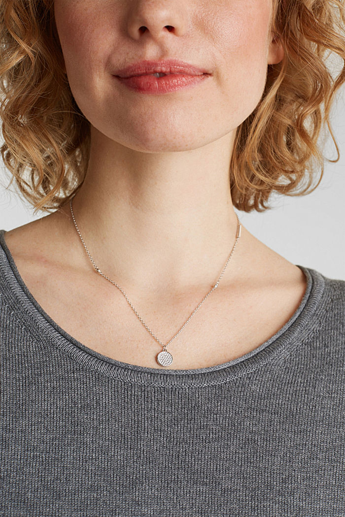 Necklace with zirconia, sterling silver