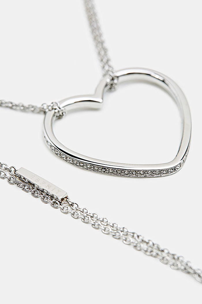 Chain with a zirconia pendant, made of stainless steel
