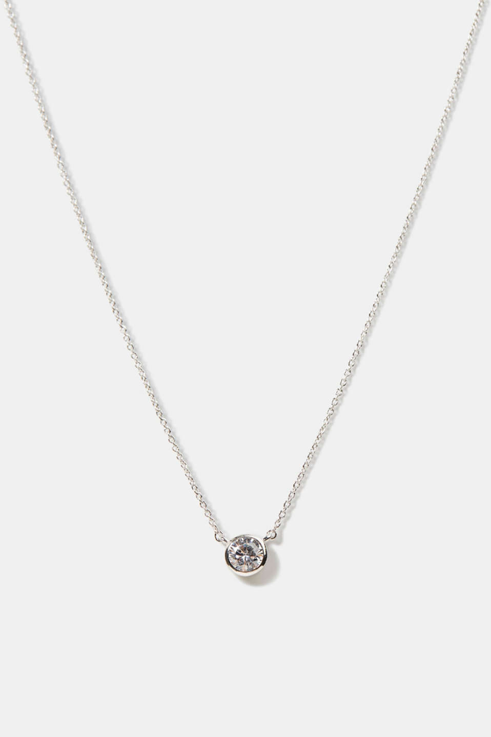 Esprit - Necklace with zirconia pendant, sterling silver