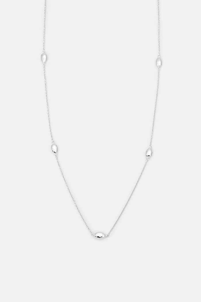 Necklace with fixed pendants, sterling silver, SILVER, detail image number 0