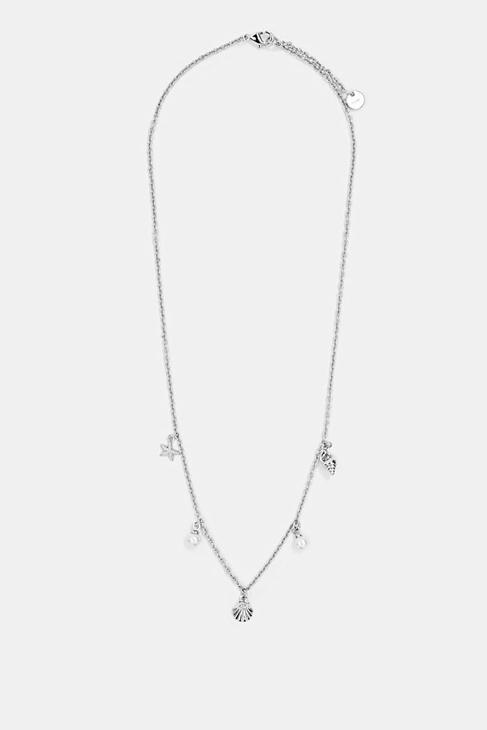 Necklace with nautical charms