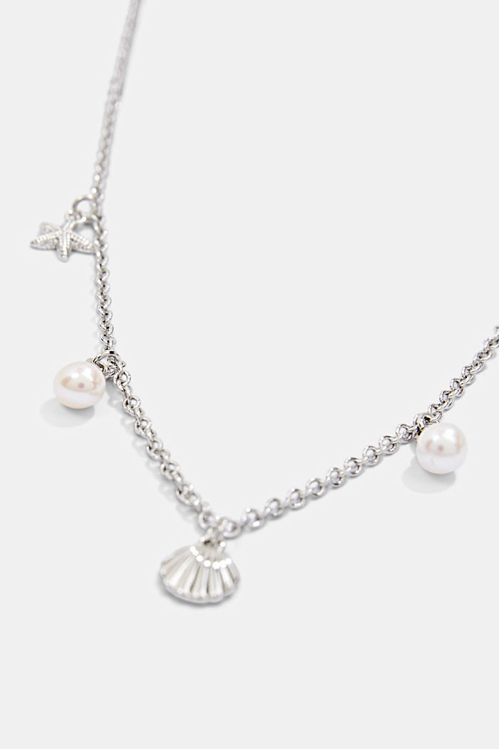 Necklace with nautical charms, SILVER, detail image number 2