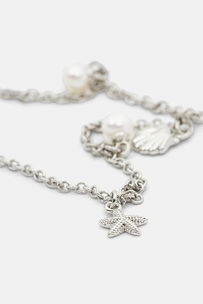Necklace with nautical charms, SILVER, detail image number 1