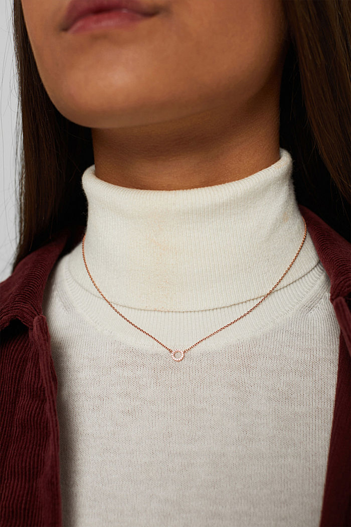 Necklaces silver, ROSEGOLD, detail image number 2