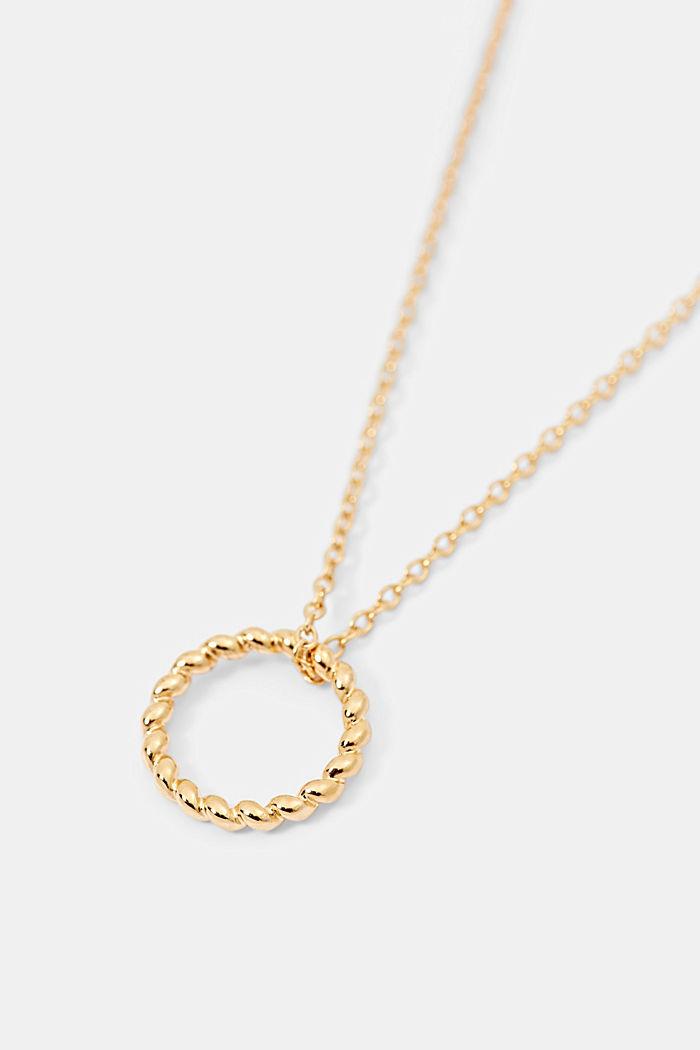 Kette aus Sterling Silber mit Ring-Anhänger, GOLD, detail image number 1