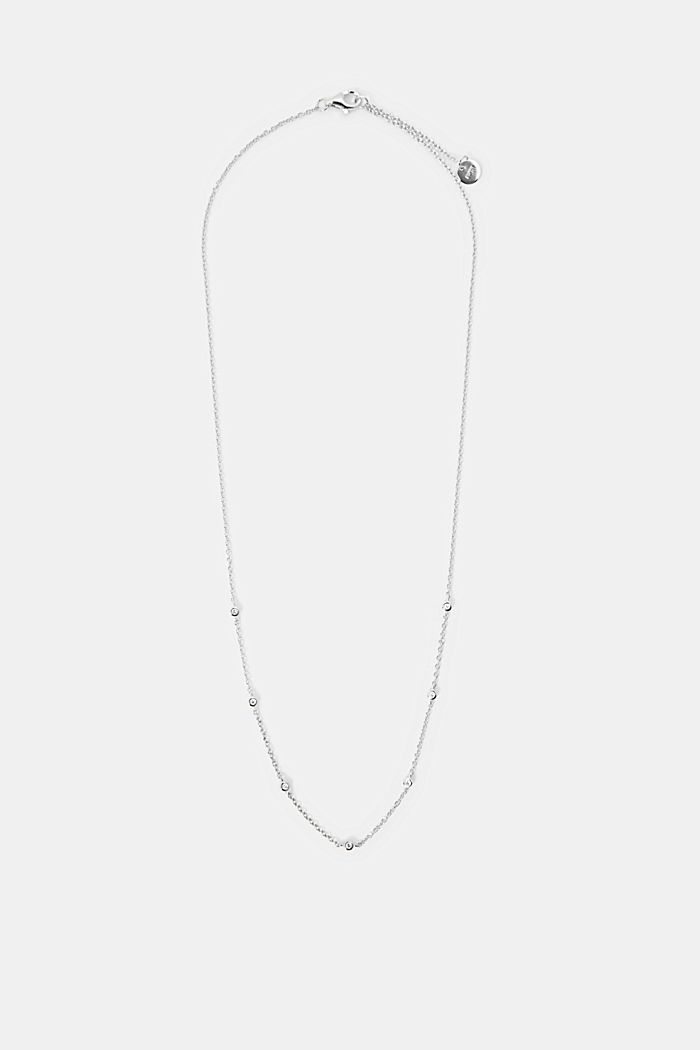 Necklace made of sterling silver with zirconia stones, SILVER, detail image number 0