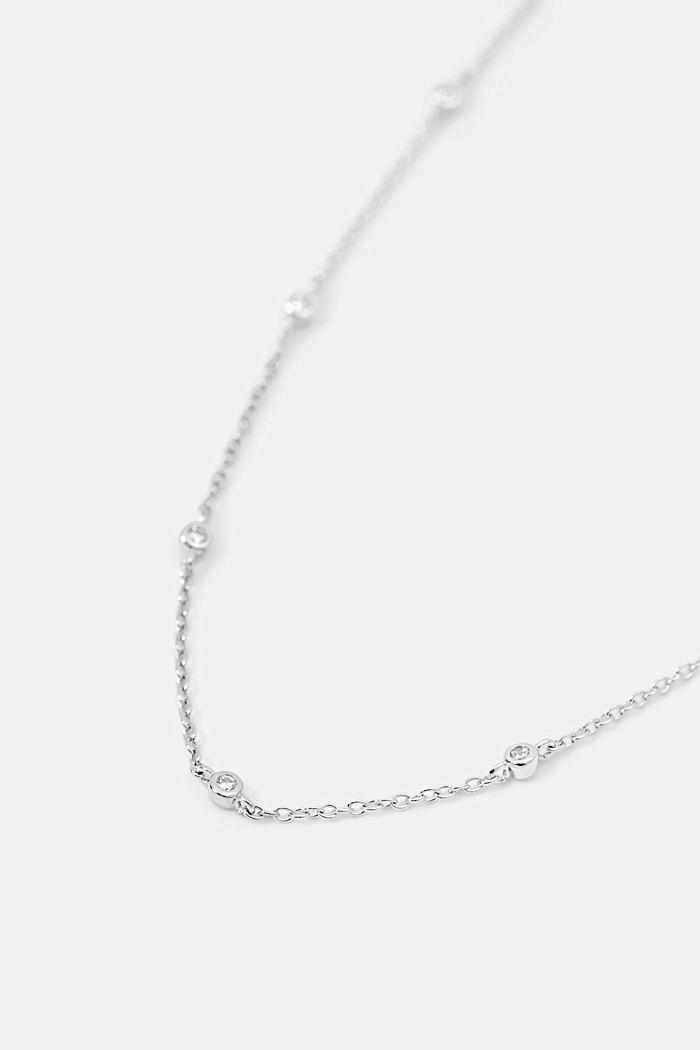 Collier en argent sterling serti de zircons