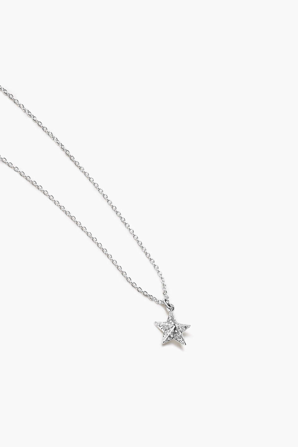 Esprit - Metal / zirconia necklace with star pendant