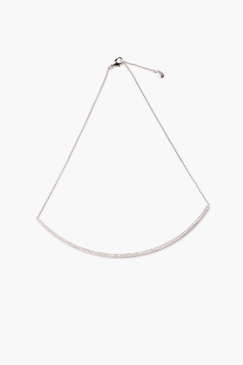 Esprit - Necklace with zirconias in a long setting