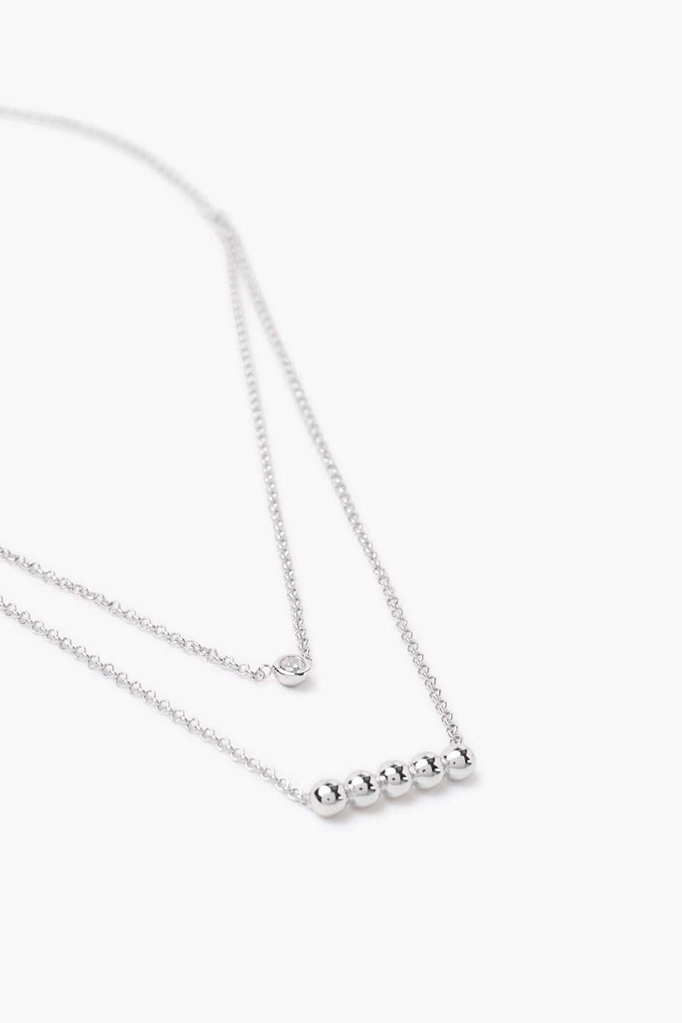 Double strand necklace in sterling silver
