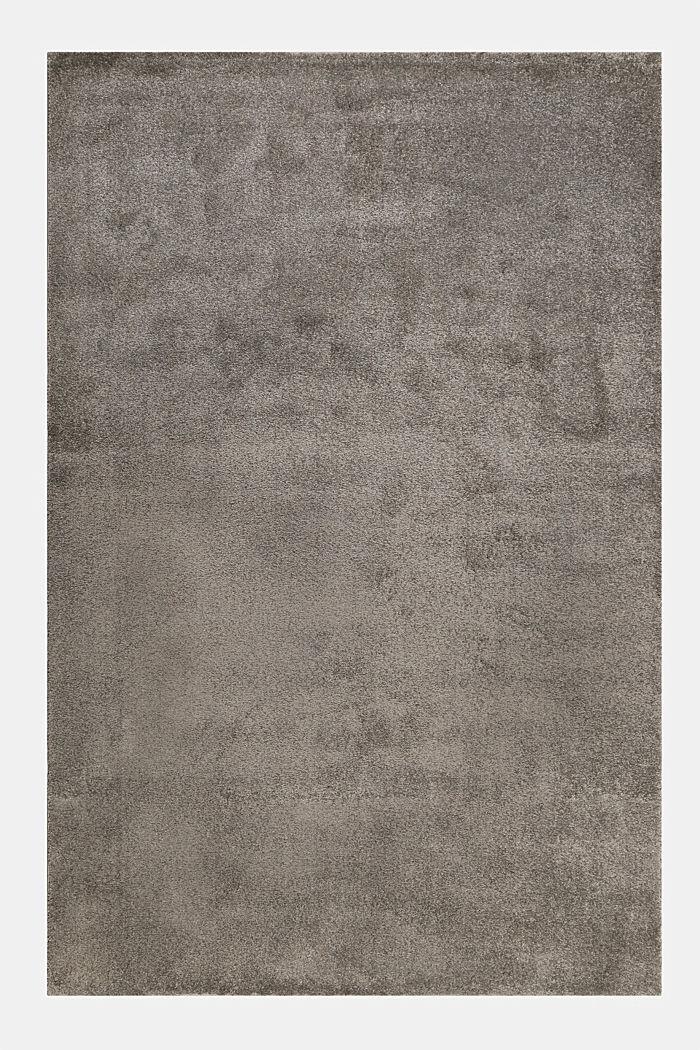 Kurzflor-Teppich in modernen uni Farben, BROWN GREY, detail image number 0