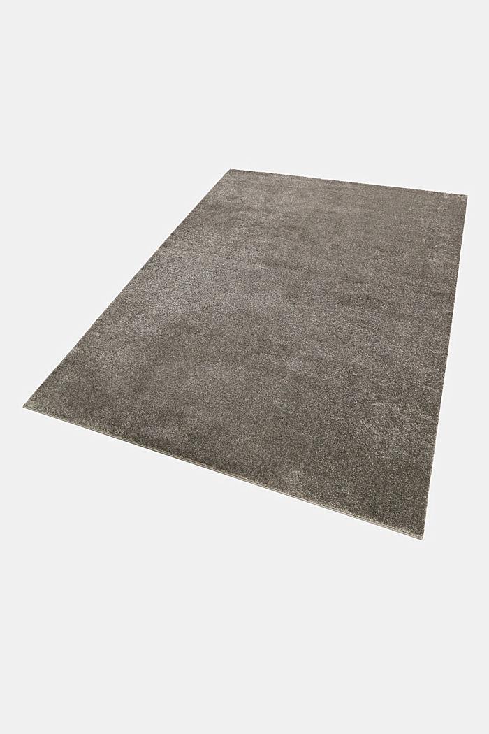 Kurzflor-Teppich in modernen uni Farben, BROWN GREY, detail image number 4