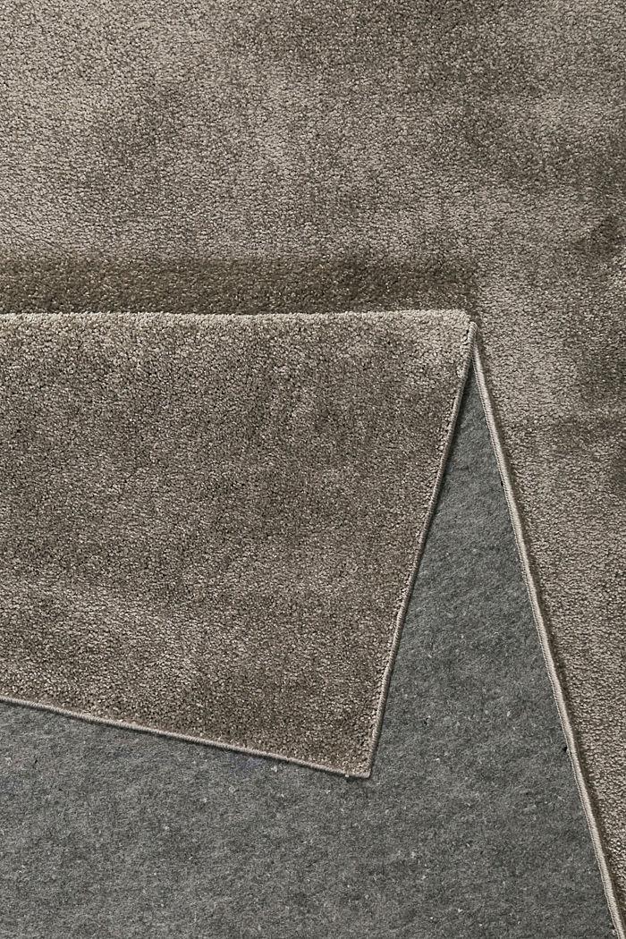 Kurzflor-Teppich in modernen uni Farben, BROWN GREY, detail image number 2