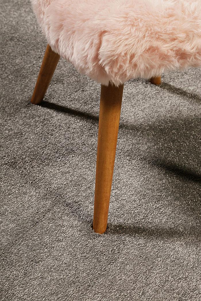 Kurzflor-Teppich in modernen uni Farben, BROWN GREY, detail image number 1
