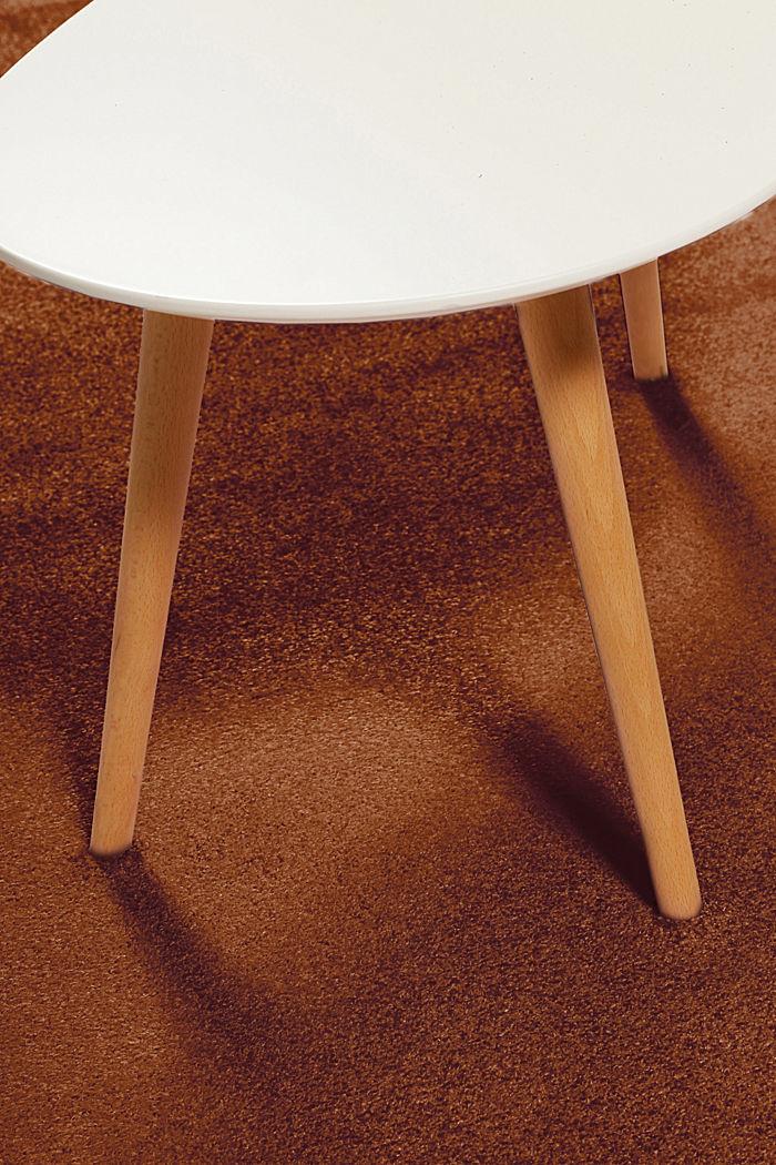 Kurzflor-Teppich in modernen uni Farben, RUST BROWN, detail image number 6