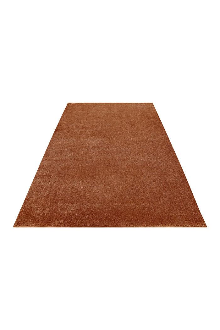 Kurzflor-Teppich in modernen uni Farben, RUST BROWN, detail image number 5