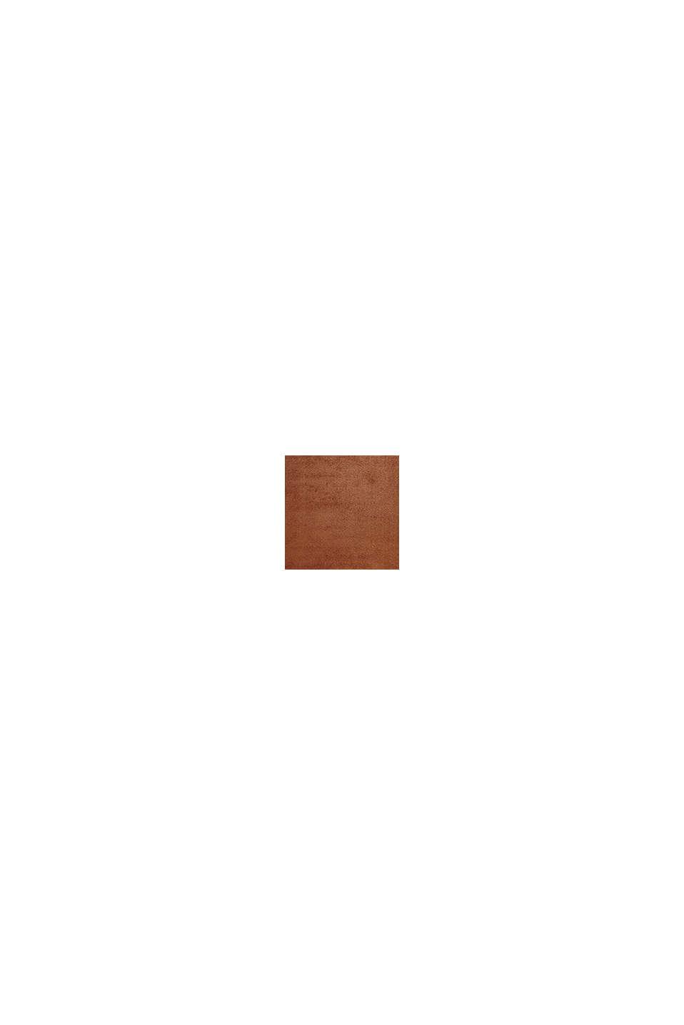 Kurzflor-Teppich in modernen uni Farben, RUST BROWN, swatch