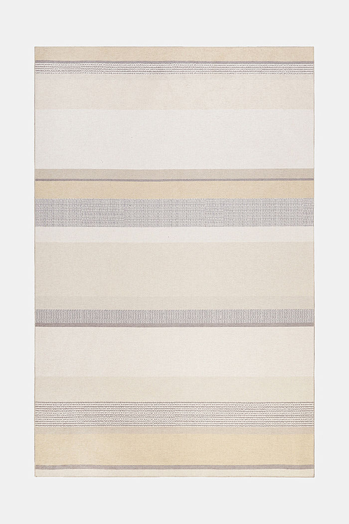 Kurzflor-Teppich mit Streifenmuster