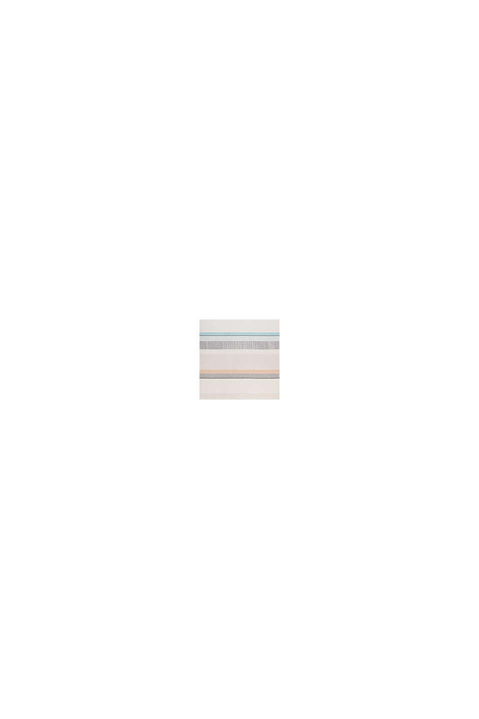 Kurzflor-Teppich mit Streifenmuster, LIGHT BEIGE, swatch