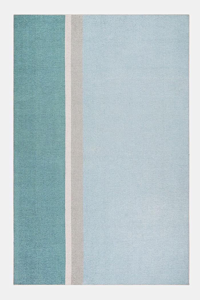 Kurzflor-Teppich mit upgecycelter Baumwolle, LIGHT BLUE, detail image number 0